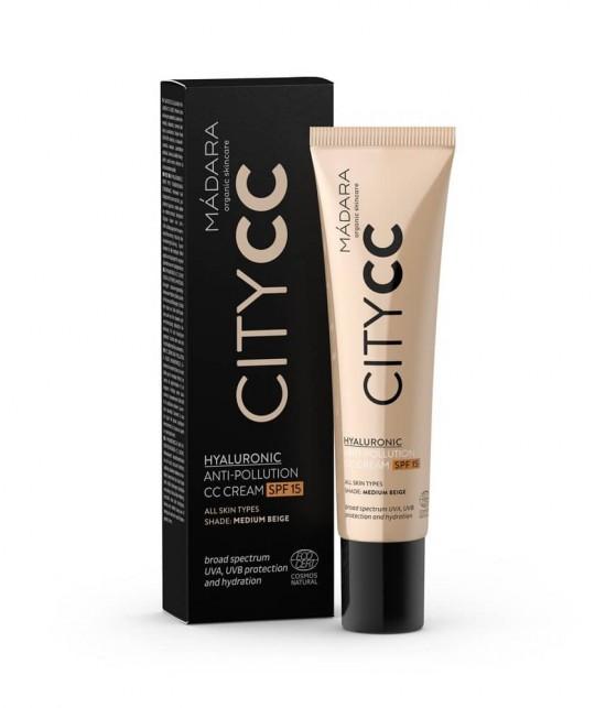 Madara Cosmetics CC Crème Anti-Pollution bio SPF 15 medium beige
