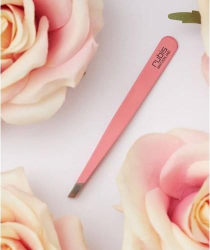 RUBIS Switzerland Pince à Épiler classique Rose sourcils beauté mors biais