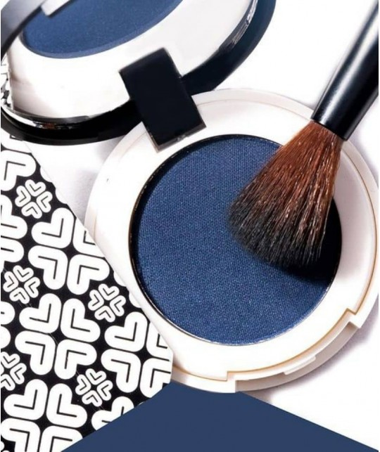 LILY LOLO - Pressed Eye Shadow Double Denim mineral cosmetics natural beauty green swatch