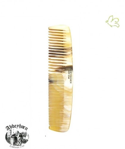 Hornkamm Abbeyhorn klein, breite und enge Zahnung (13 cm) handgefertigt