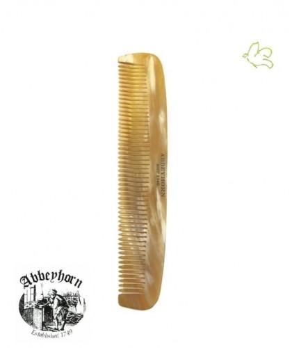 Abbeyhorn Peigne en corne naturelle (15 cm) cheveux barbe fait main l'Officina Paris