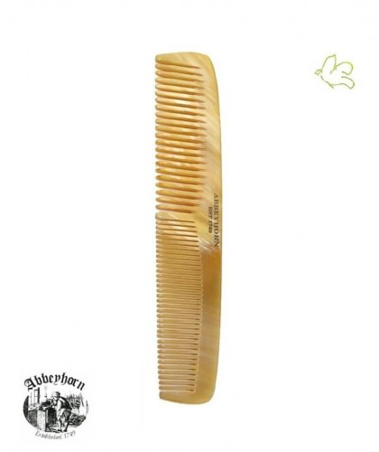 Horn Comb ABBEYHORN double tooth 16,8 cm handmade in UK