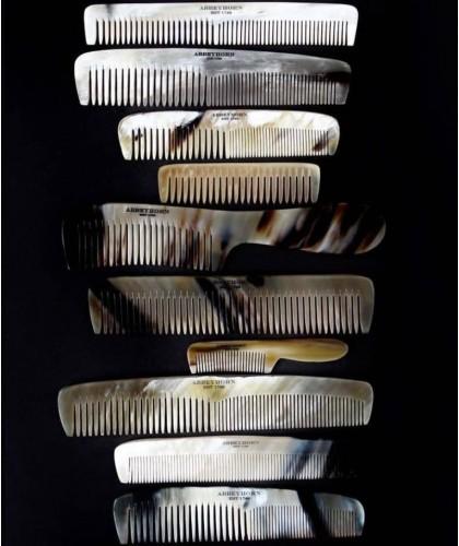 Peigne en corne Abbeyhorn barbe cheveux fait main en Angleterre Pour hommes et femmes cheveux barbe