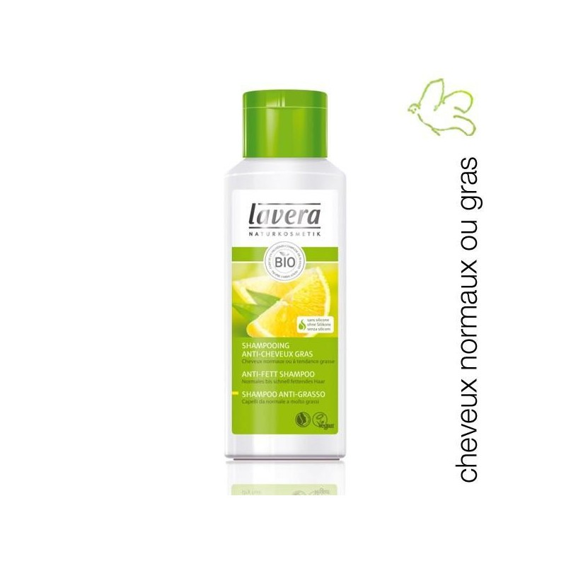 Lavera - Shampooing Anti-cheveux gras Citron