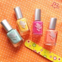 Priti NYC - Vernis d'Eté: 244 Hula Girl Rose - 443 Lampshade Poppy - 499 Lungwort - 415 Fireglow