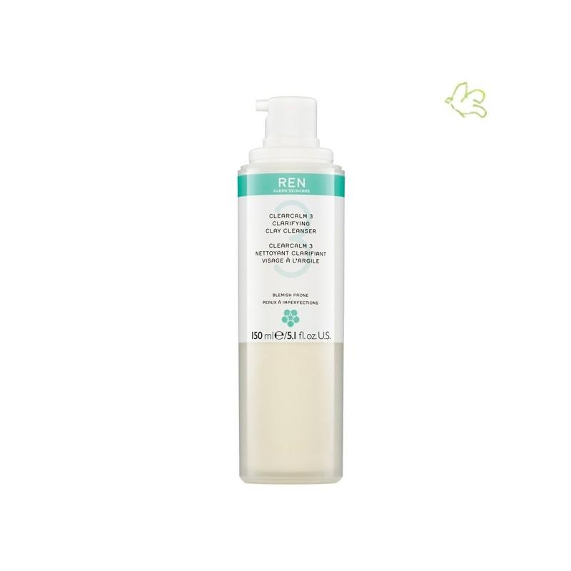 REN clean skincare - ClearCalm 3 Nettoyant Clarifiant à l'Argile