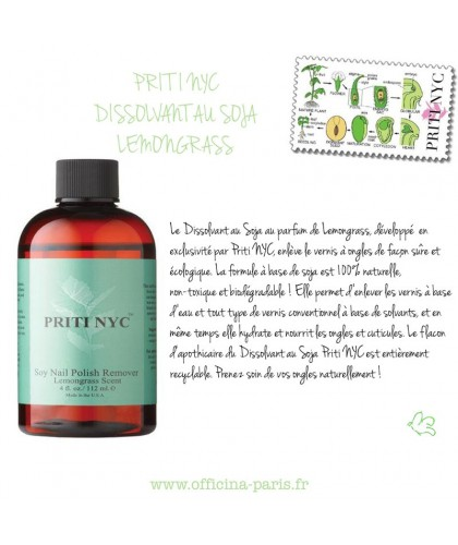 PRITI NYC - Soy Polish Remover Lemongrass Scent (59ml)