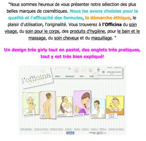 L'e-shop L'OFFICINA, que du beau, du bio et du bon! … par le Blog Beauté by Kirzy