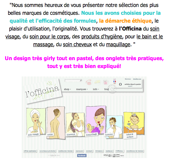 L'e-shop L'OFFICINA, que du beau, du bio et du bon! … par le Blog Beauté by Kirzy