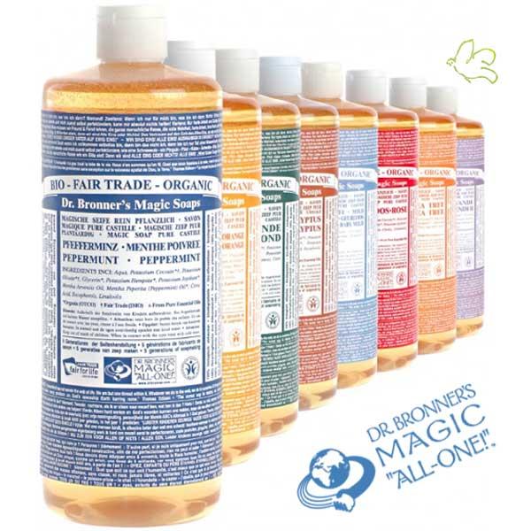 Dr. Bronner's Magic Soaps –  18 façons d'utiliser les savons bio du Dr. Bronner
