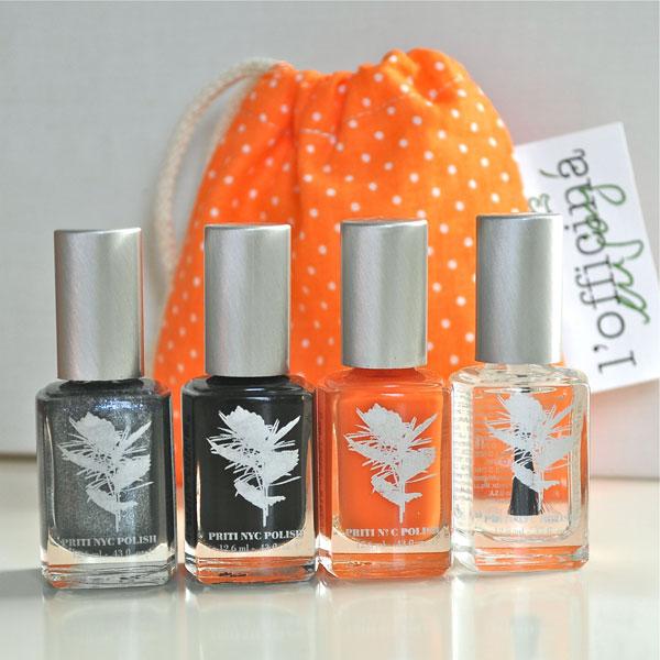 Halloween jusqu'au bout des ongles… avec les vernis non-toxiques Priti NYC!