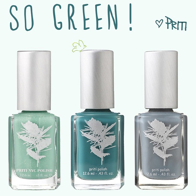 Couleurs de rentrée… So green! Vernis non-toxiques PRITI NYC