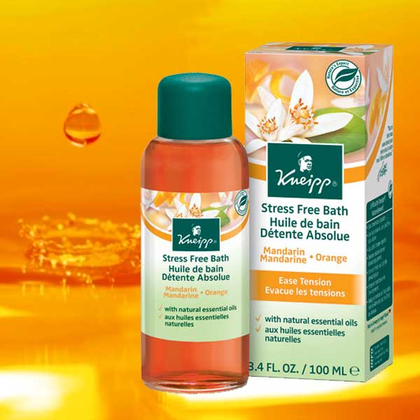 Kneipp - Huile de Bain Aromatique Mandarine et Orange Détente Absolue