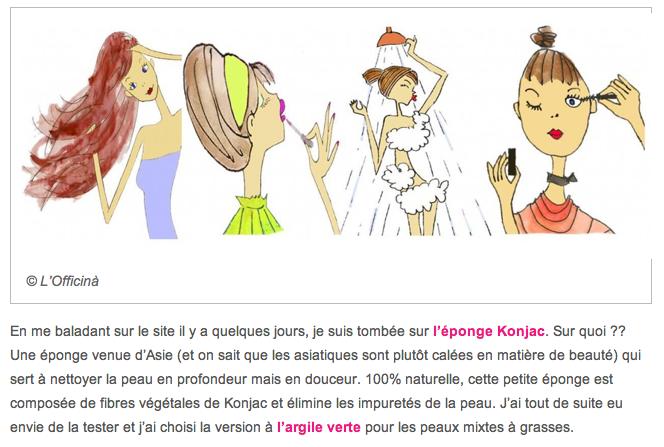 Petites Confidences (entre amis) – l'Eponge Konjac (… et concours – jusqu'au 2 février 2014)