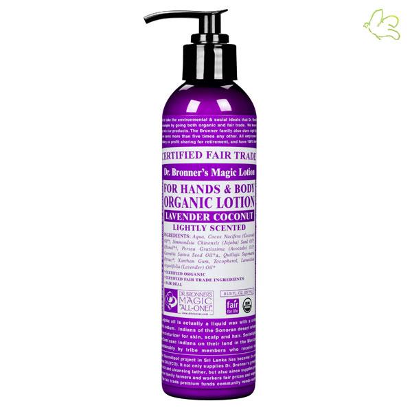 DR. BRONNER'S Lait Hydratant bio Lavande & Noix de Coco