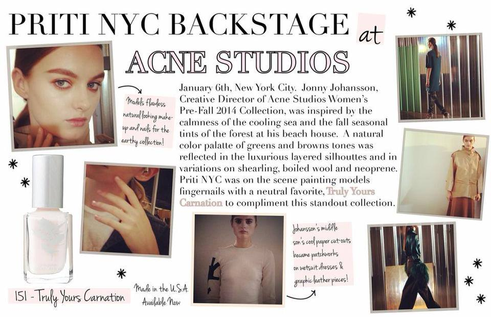 Read more about the article Priti NYC backstage New York – pré-collection automne/hiver 2014 ACNE Studios