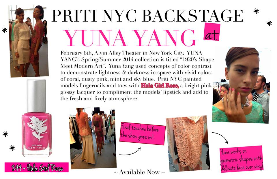 Priti NYC backstage – collection printemps / été 2014 Yuna Yang