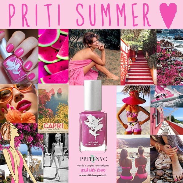 Priti Summer – Vernis à ongles Flowers Hula Girl Rose