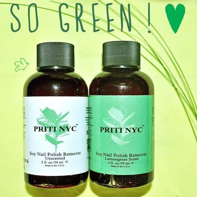 Le plus écologique! Dissolvant organique au Soja Priti NYC