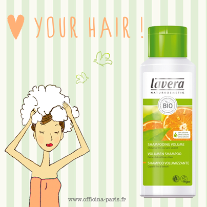 Love your Hair ! Shampooing Volume à l'Orange bio Lavera