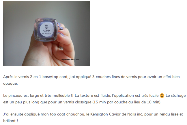 Revue Priti NYC - Vernis à Ongles Flowers - Day Flower