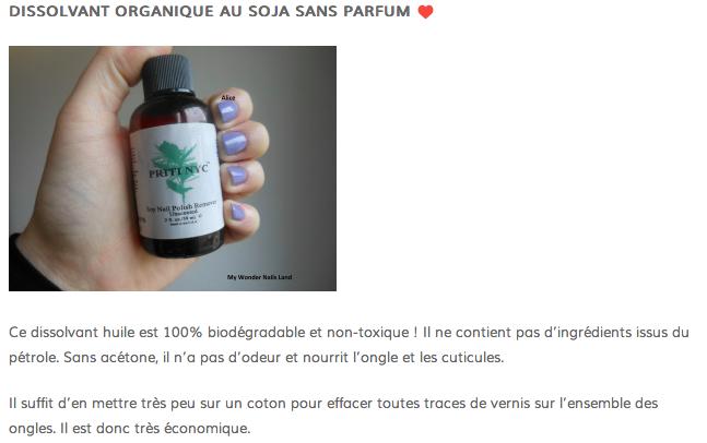 Priti NYC - Dissolvant organique au Soja sans parfum (59ml)
