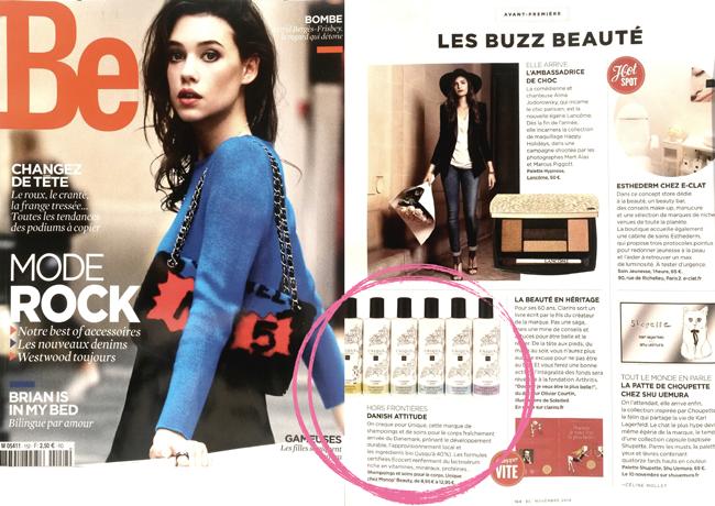 Buzz Beauté – UNIQUE Haircare dans BE du mois de novembre 2014