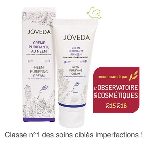 La Crème Purifiante au Neem de JOVEDA recommandée par l'Observatoire des Cosmétiques