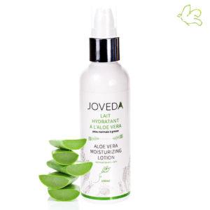 Le lait hydratant à l'Aloe Vera de JOVEDA dans Les Envies de Georgette