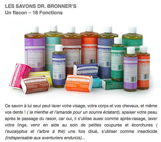 L'indispensable Savon liquide Dr. Bronner's dans Envie d'Ailleurs Magazine