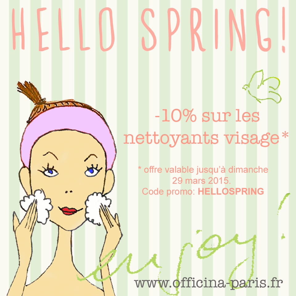 Hello Spring ! Offre spéciale Nettoyage Visage