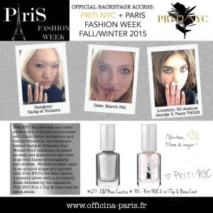 Priti NYC est à la Paris Fashion Week automne / hiver 2015