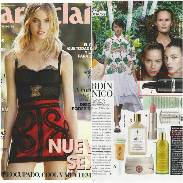 Marie Claire Espagne recommande le Gel Nettoyant Green Shaman Ami Iyök
