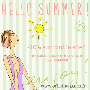 L'été est là! -10% sur tout le site