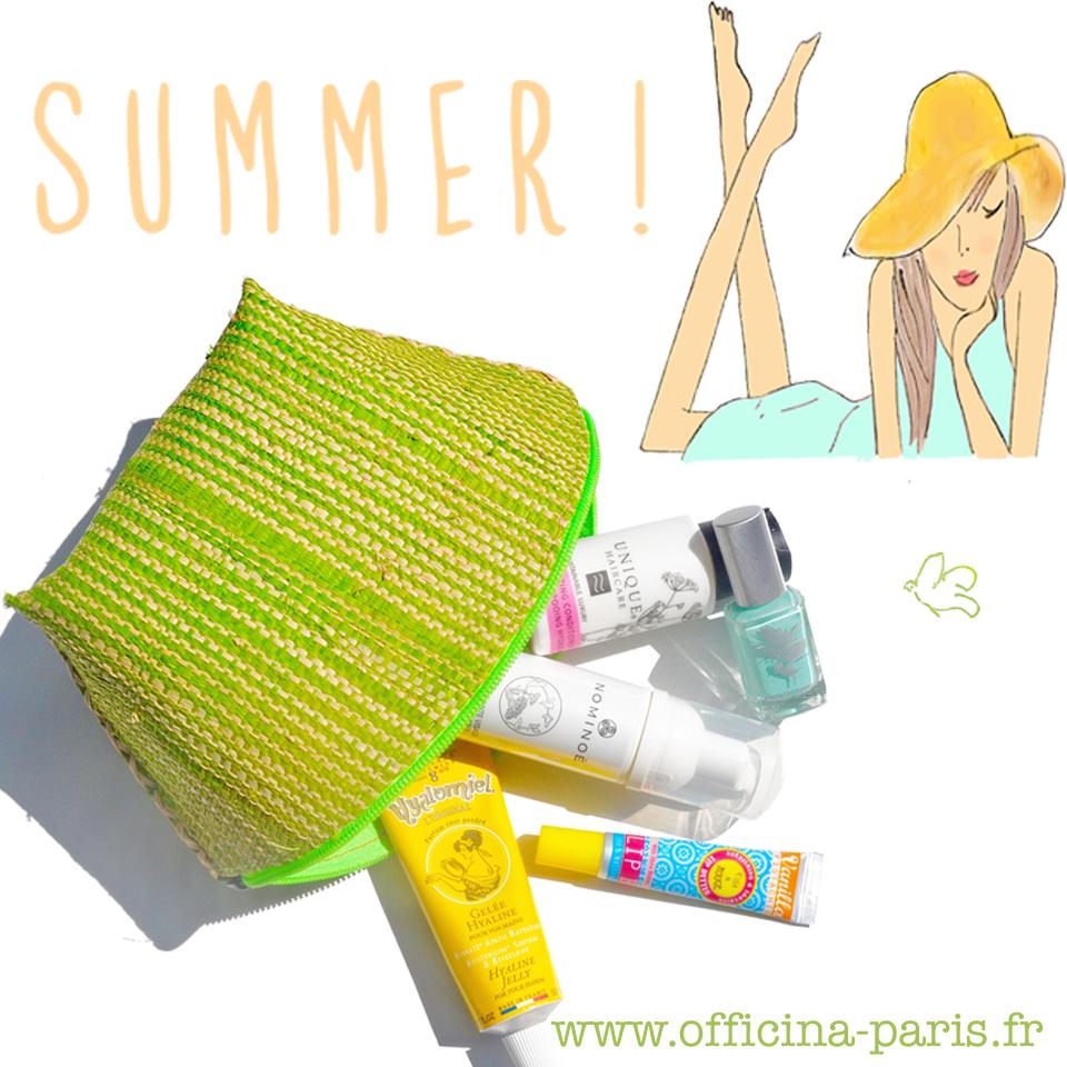 Hello Summer! La trousse beauté green !