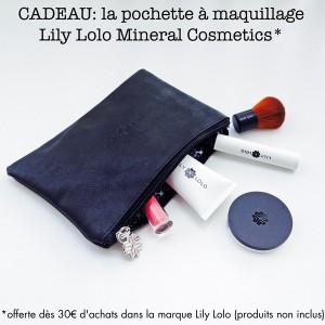 Cadeau: la Pochette à Maquillage Lily Lolo Mineral Cosmetics