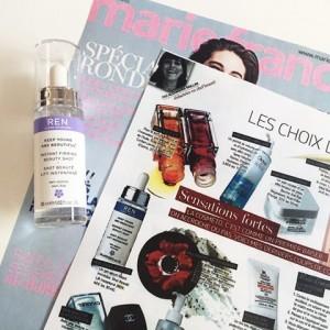 Le Shot Beauté Lift Instantané de REN Skincare dans Marie France Beauté