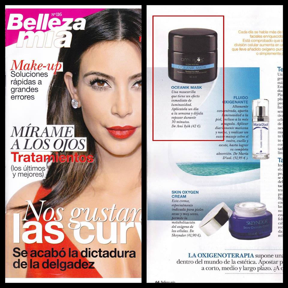 Oceanik Mask Ami Iyök dans le magazine espagnol Bellezamia
