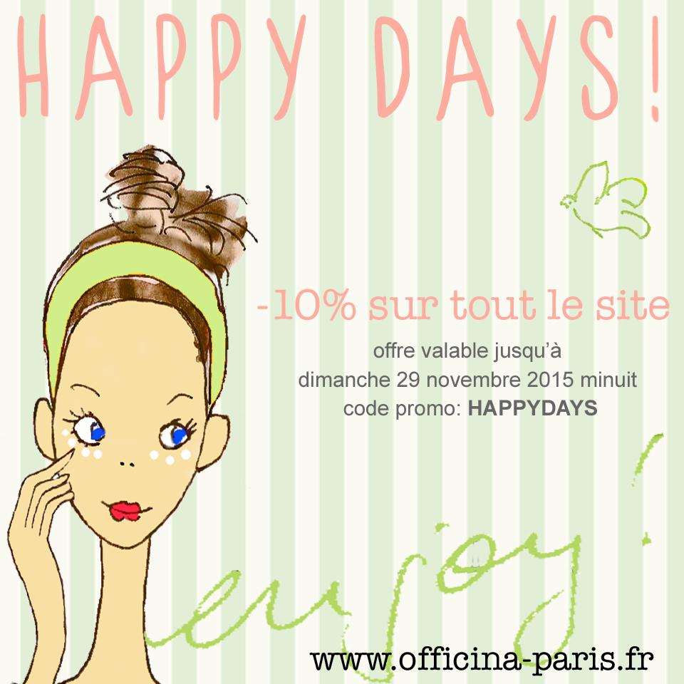 Read more about the article Happy Days à l'Officina Paris!