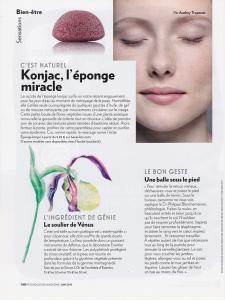 Konjac, éponge miracle… dans le magazine Psychologies