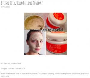 Le Peeling Végétal Joveda en revue chez Violette & Alexis