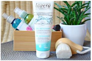 Le Gel Nettoyant visage Lavera dans la routine de soin d'hiver de Peppermint Beauty