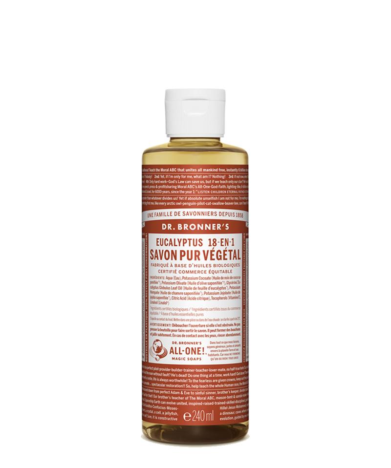 Dr. Bronner's Savon Liquide bio Pur Végétal Eucalyptus