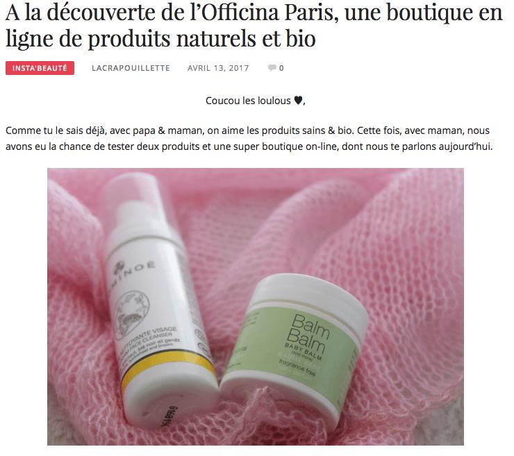 """""""La Crapouillette"""" à la Découverte de l'Officina Paris"""