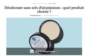 Déodorant sans sels d'aluminium dans Marie Claire