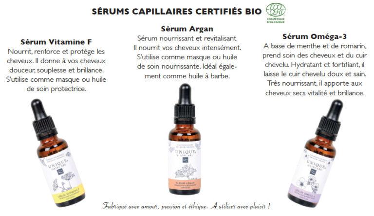 UNIQUE Haircare: 3 nouveaux sérums capillaires
