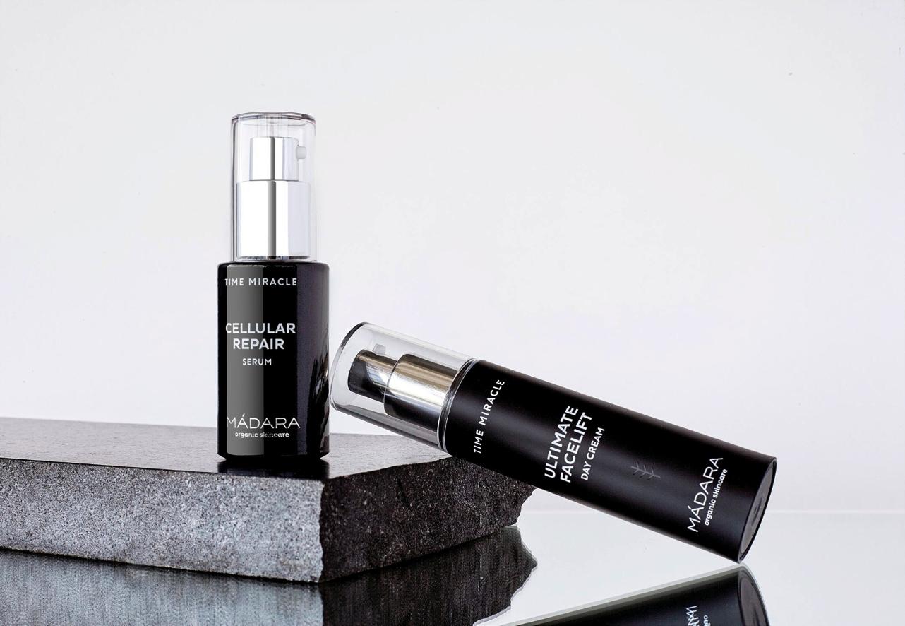 MADARA organic cosmetics - Crème de Jour Anti Rides Ultimate Facelift TIME MIRACLE & Serum CELLULAR REPAIR