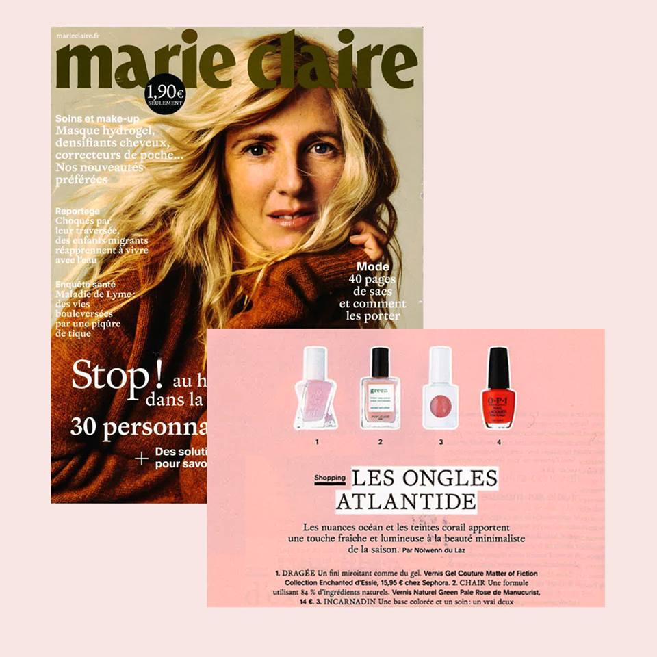 Lumineux, naturel et frais, le vernis Pale Rose Manucurist dans la liste shopping de Marie-Claire !
