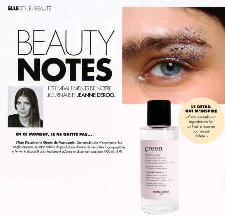Manucurist GREEN dans les Beauty Notes de Elle