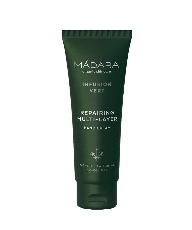 Madara Infusion Vert Repairing Multilayer Crème protectrice pour les mains bio